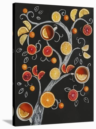 Teatime Tree-Dina Belenko-Stretched Canvas Print