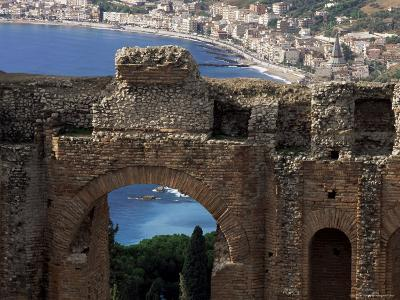 Teatro Greco, Founded in the 3rd Century Bc, Taormina, Sicily, Italy-Duncan Maxwell-Photographic Print