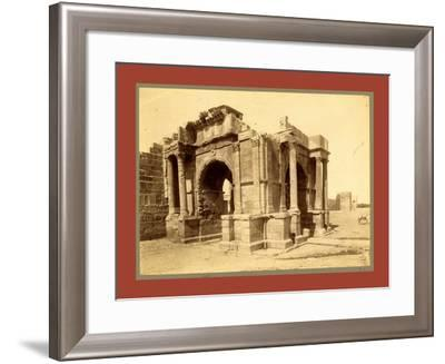 Tebessa, Arc De Triomphe Quadrifrons Caracalla, Third Century, Algiers-Etienne & Louis Antonin Neurdein-Framed Giclee Print