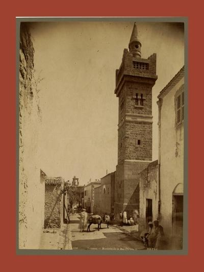 Tebessa Mosque Street Caracalla, Algiers-Etienne & Louis Antonin Neurdein-Giclee Print