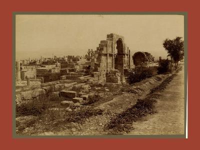 Tebessa Ruins of Byzantine Basilica, Side Door, Algiers-Etienne & Louis Antonin Neurdein-Giclee Print