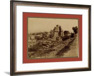 Tebessa Ruins of Byzantine Basilica, Side Door, Algiers-Etienne & Louis Antonin Neurdein-Framed Giclee Print