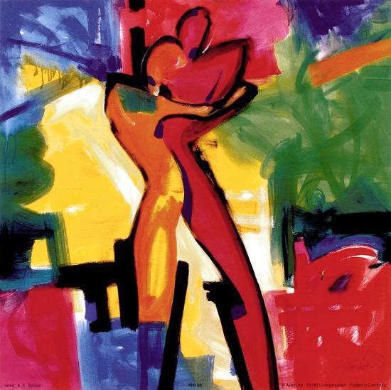 Technicolor Love I-Alfred Gockel-Art Print