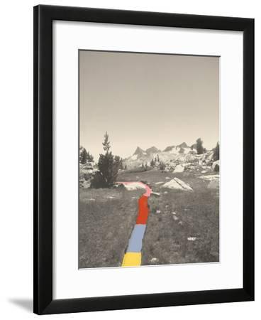 Technicolor Trail-Danielle Kroll-Framed Giclee Print