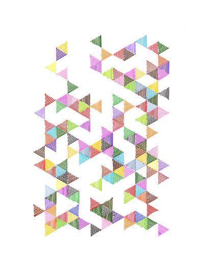 Technicolour Raindrops-Fimbis-Art Print