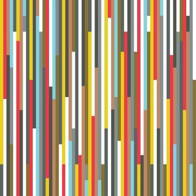 Technicolour Stripes-Fimbis-Giclee Print
