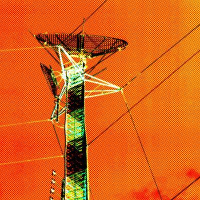 Technological Electric Tower with Power Lines--Photographic Print