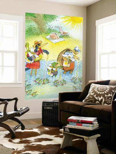 Ted, Ed and Caroll and the Tiny Fish 4 - Turtle-Valeri Gorbachev-Wall Mural