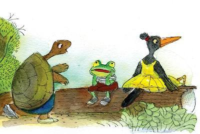 Ted, Ed, and Caroll are Great Friends - Turtle-Valeri Gorbachev-Giclee Print