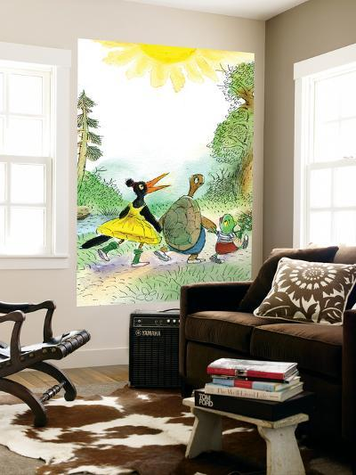 Ted, Ed and Caroll are Great Friends - Turtle-Valeri Gorbachev-Wall Mural