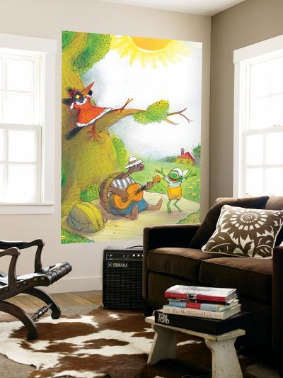 Ted, Ed and Caroll - the Picnic - Turtle-Valeri Gorbachev-Wall Mural