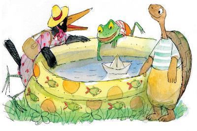 Ted, Ed, Caroll and the Swimming Pool - Turtle-Valeri Gorbachev-Giclee Print