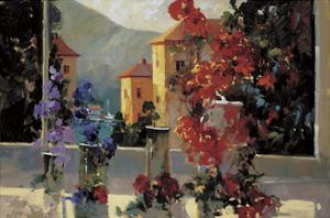 Lake Como View by Ted Goerschner