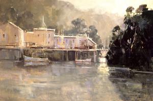 Morning Harbor, Mendocino by Ted Goerschner