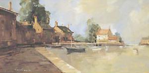 Morning Harbor by Ted Goerschner