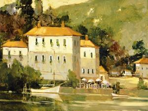 White Sail Boat, Como by Ted Goerschner