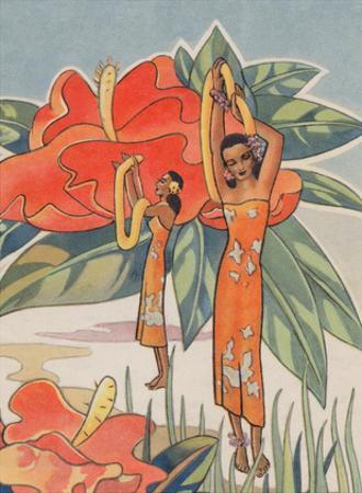 Aloha Nui From Hawaii - Hawaiian Hula Dancers by Ted Mundorff