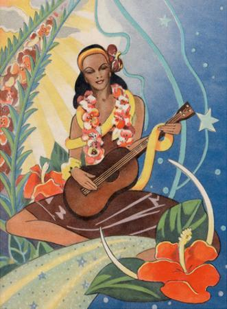 Hawaiian Musician - Curt Teich & Co. by Ted Mundorff
