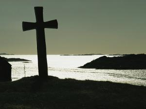 11th-Century Stone Cross off the West Coast of Kvitsoy, Norway by Ted Spiegel