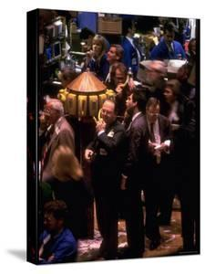 Busy Trading Floor of NY Stock Exchange by Ted Thai