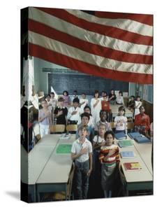 Children Pledging Allegiance to the Flag in a NYC Public Elementary School by Ted Thai