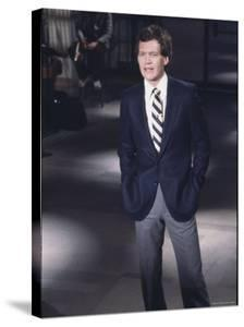 """Comedian David Letterman on NBC TV """"Late Night"""" by Ted Thai"""