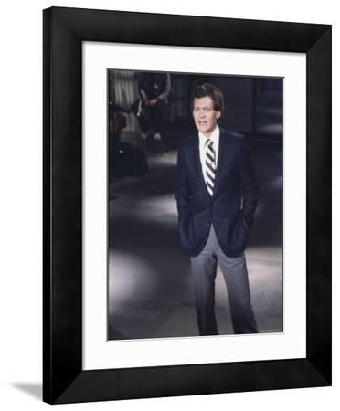 "Comedian David Letterman on NBC TV ""Late Night"""