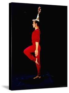 """Ex-American Ballet Director Mikhail Baryshnikov Practicing Moves from Merce Cunningham's """"Signals"""" by Ted Thai"""