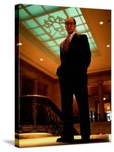 Federal Reserve Bd. Chmn. Alan Greenspan, Probably in NYC by Ted Thai