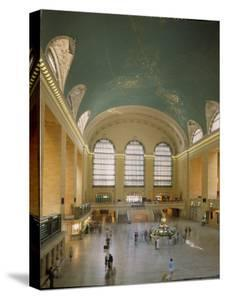 Main Concourse at Grand Central Station in Panorama Before Rededication of Renovated Beaux Art Gem by Ted Thai