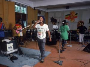 Musician Ziggy Marley Practicing with Band the Melody Makers by Ted Thai