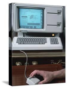 New Apple Lisa Computer During Press Preview by Ted Thai