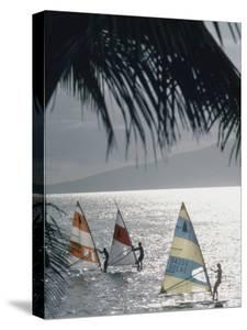 Wind Surfers at Waihikula, Maui by Ted Thai