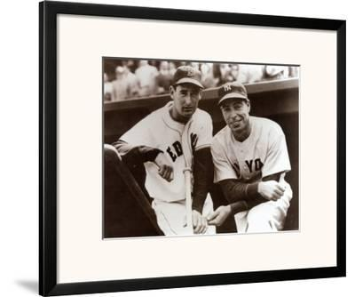 BASEBALL ART PRINT Ted Williams and Joe Dimaggio
