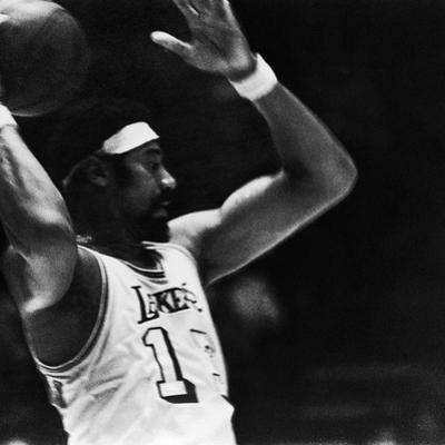 Basketball Star Wilt Chamberlain, Member of the Los Angeles Lakers, 1972 by Ted Williams