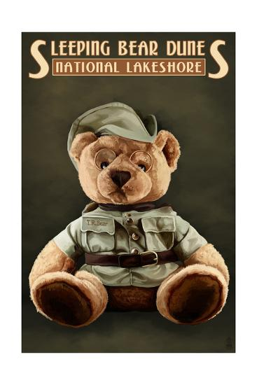 Teddy Bear - Sleeping Bear Dunes National Seashore, Michigan-Lantern Press-Art Print