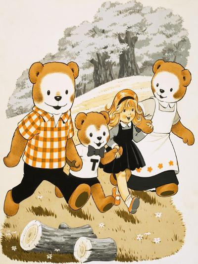 Teddy Bears with Young Girl--Giclee Print