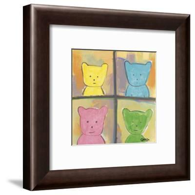Teddy can never decide which season he is-Brian Nash-Framed Art Print
