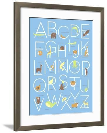 Illustrated Animal Alphabet ABC Poster Design