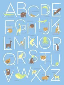 Illustrated Animal Alphabet ABC Poster Design by TeddyandMia