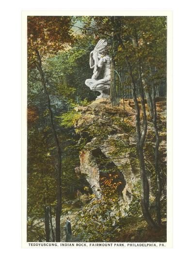 Teddyuscung, Indian Rock, Philadelphia, Pennsylvania--Art Print