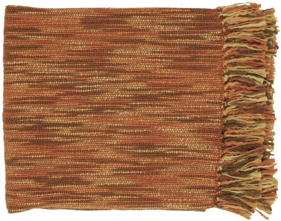 Teegan Throw - Coral/Beige--Home Accessories