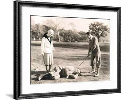 Teeing Off--Framed Photo
