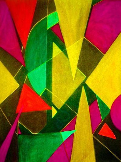 Teeming Triangles II-Ruth Palmer-Art Print
