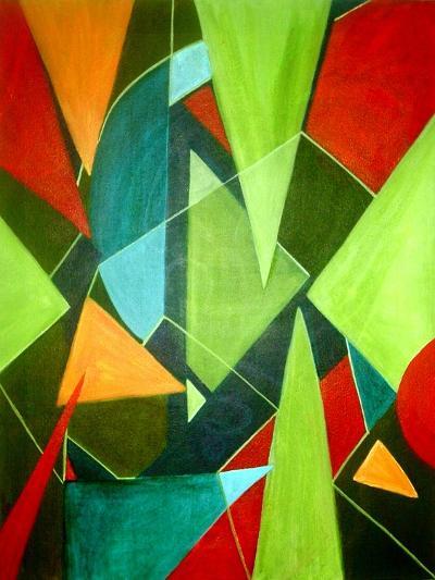 Teeming Triangles-Ruth Palmer-Art Print