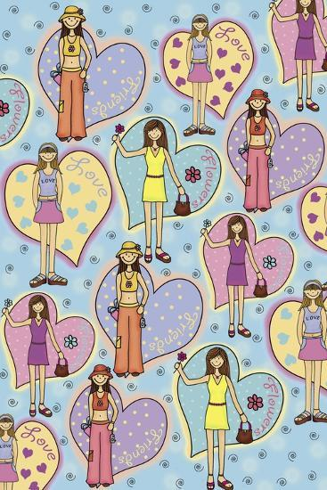 Teen Years-Maria Trad-Premium Giclee Print