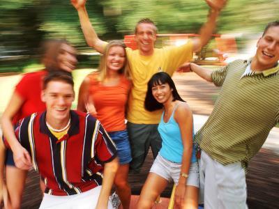 Teens Having Fun Outdoors-Bill Bachmann-Photographic Print
