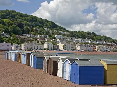 Teignmouth Beach Huts and Shaldon, South Devon, England, United Kingdom, Europe-Rainford Roy-Photographic Print