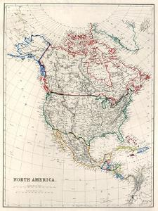 19Th Century Map Of North America by Tektite