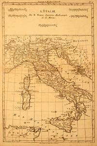 Antique Map Of Italy by Tektite